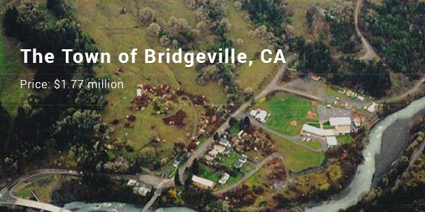 the town of bridgeville, ca