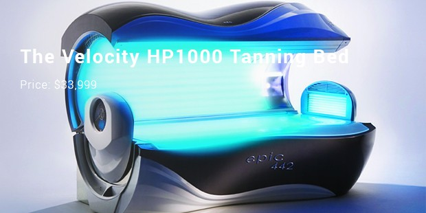 The Velocity HP1000 Tanning Bed