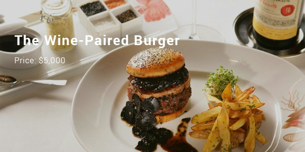 the wine paired burger
