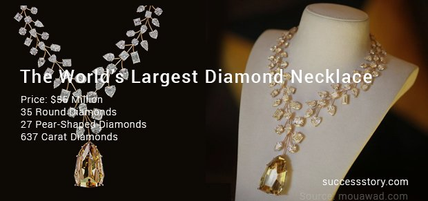 the world's largest diamond necklace