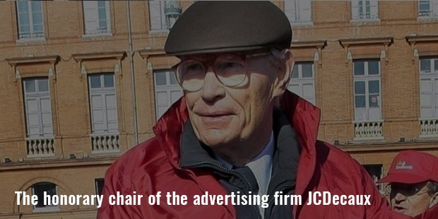 the honorary chair of the advertising firm jcdecaux