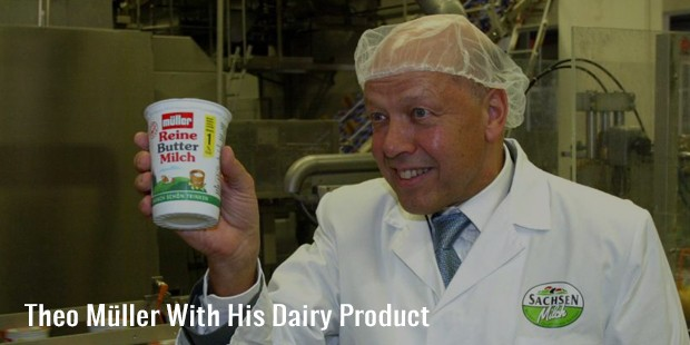 theo müller with his dairy product
