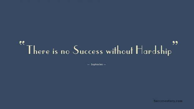 no success without hardship