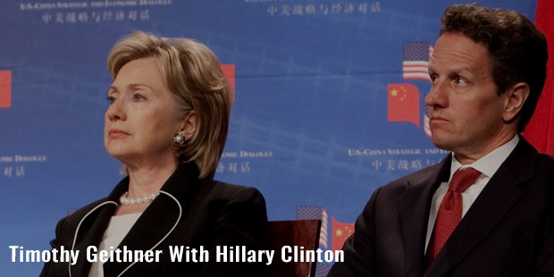 timothy geithner with hillary clinton