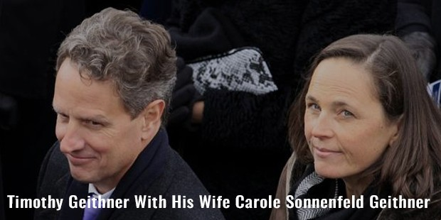 timothy geithner with his wife carole sonnenfeld geithner