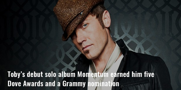toby's debut solo album momentum earned him five