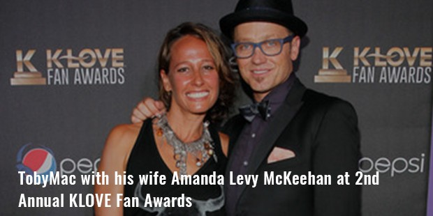 tobymac with his wife amanda levy mckeehan at 2nd