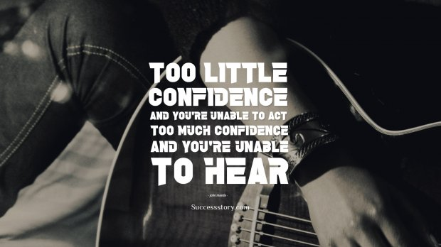 Too little confidence
