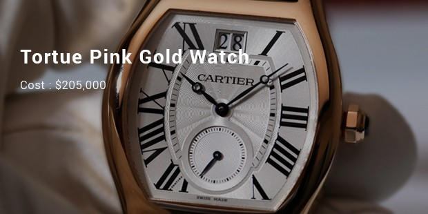 tortue pink gold watch