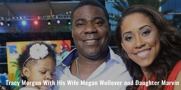 tracy morgan with his wife megan wollover and daughter marvin