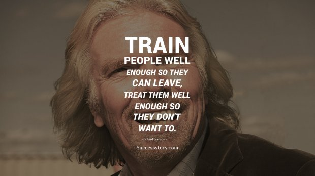 Train people well
