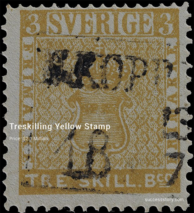 treskilling yellow stamp