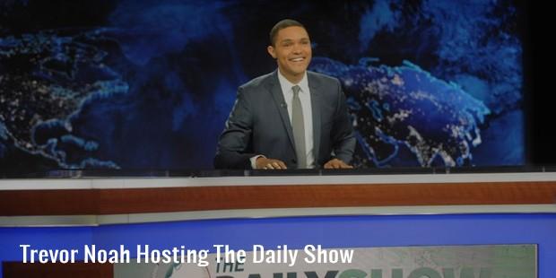 trevor noah hosting the daily show