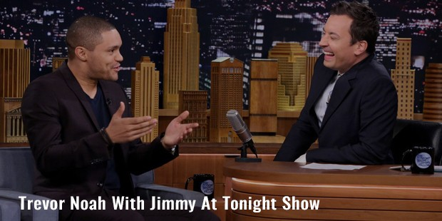 trevor noah with jimmy at tonight show