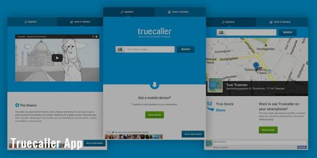 truecaller app screen shots