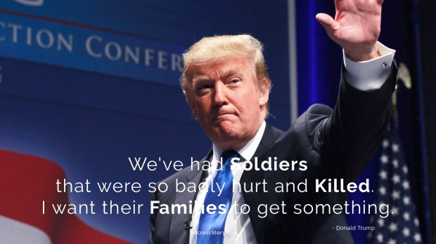 trump on soldiers