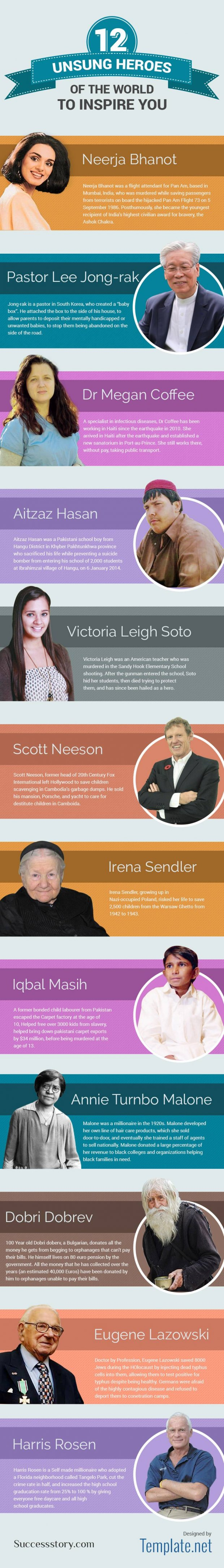 Unsung Heroes Of The World To Inspire You Infographic