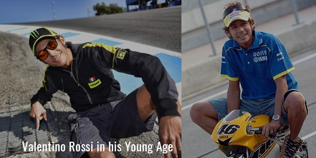 Valentino Rossi in his Young Age