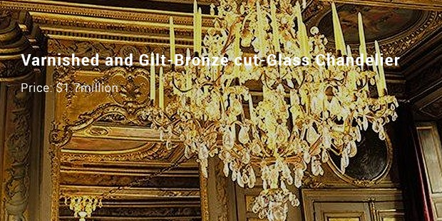 varnished and gilt bronze cut glass chandelier