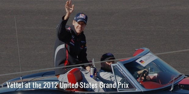 vettel at the 2012 united states grand pri