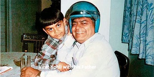 virat kolhi with his father
