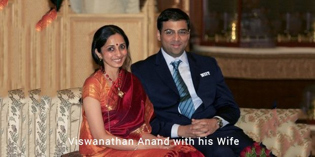 viswanathan anand with his wife