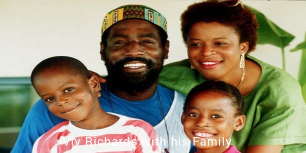 viv richards with his family