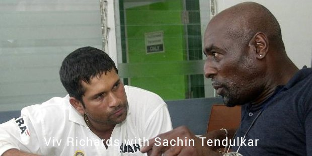 viv richards with sachin