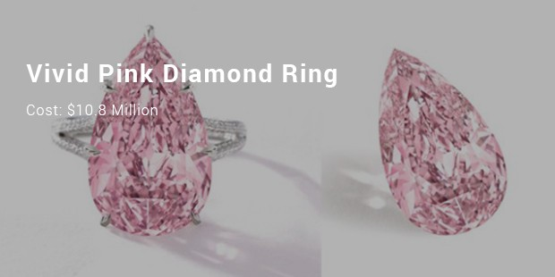 vivid pink diamond ring