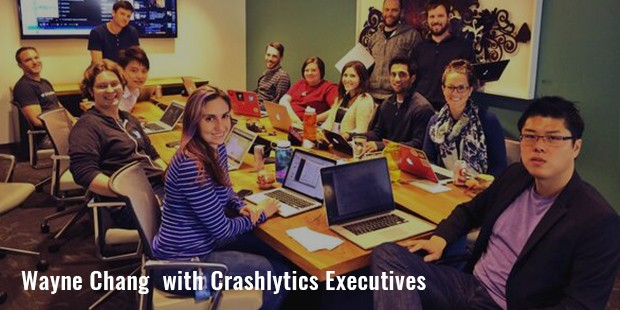 wayne chang  with crashlytics executives
