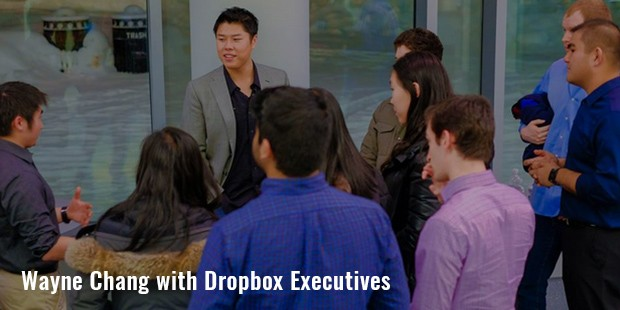 wayne chang with dropbox executives