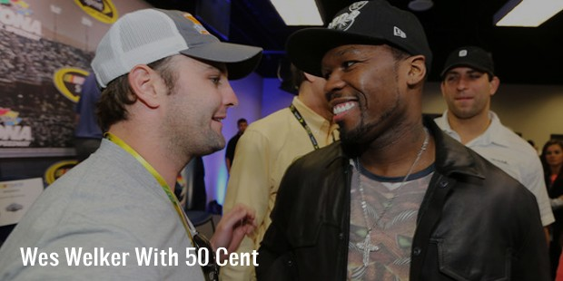 wes welker with 50 cent