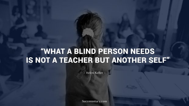 What a blind person needs