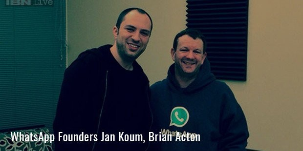 whatsapp founders jan koum, brian acton