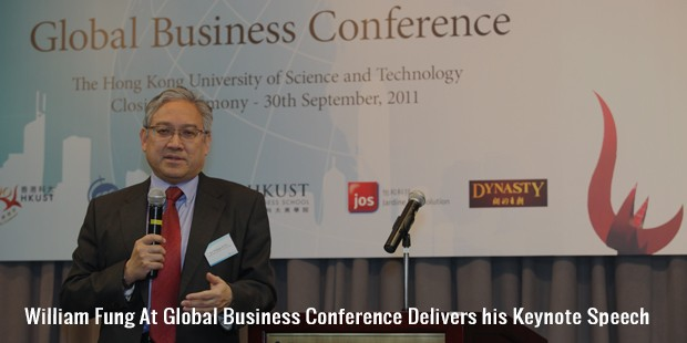 william fung at global business conference delivers his keynote speech