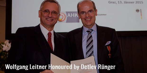 wolfgang leitner honoured