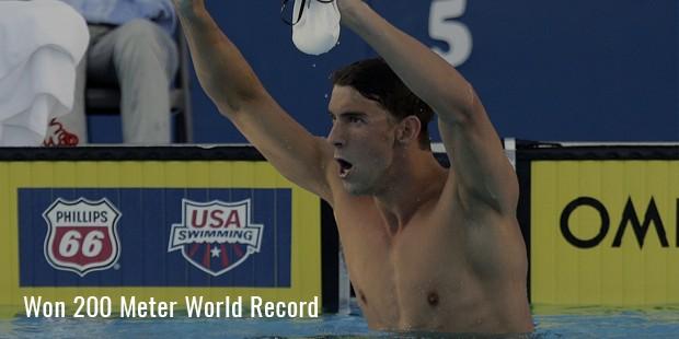 won 200 meter world record