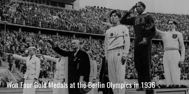 won four gold medals at the berlin olympics in 1936