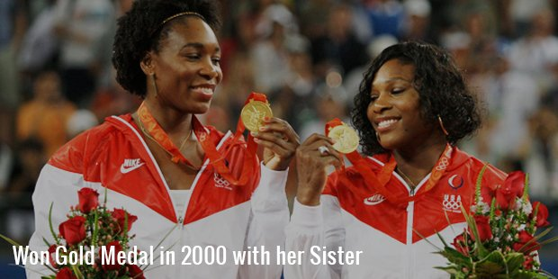 won gold medal in 2000 with her sister