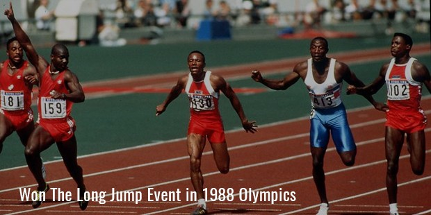 won the long jump event in 1988 olympics