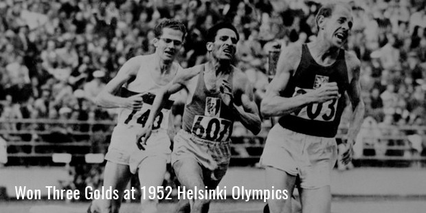 won three golds at 1952 helsinki olympics