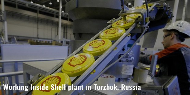 working inside shell plant in torzhok, russia