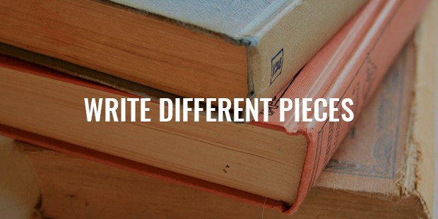 Writing different pieces of text