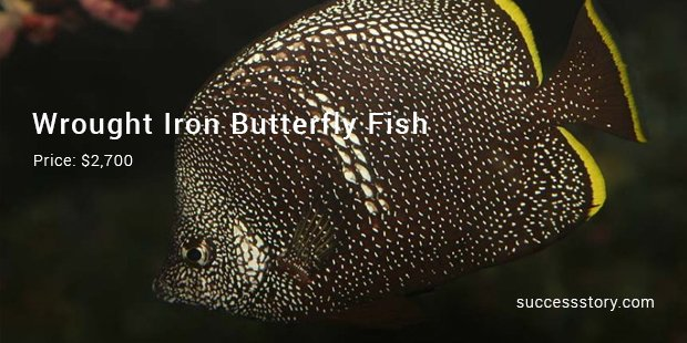 Wrought Iron Butterfly Fish