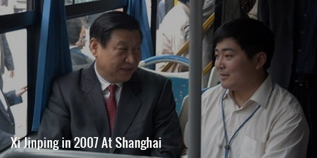 xi jinping in 2007 at shanghai