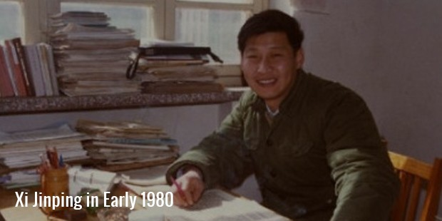 xi jinping in early 1980