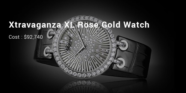xtravaganza xl rose gold watch