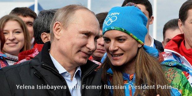 yelena isinbayeva with putin