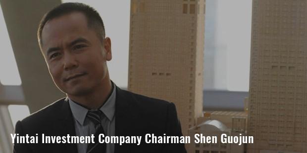 yintai investment company chairman shen guojun