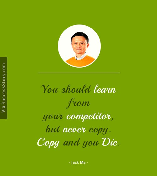 You should learn from your competitor